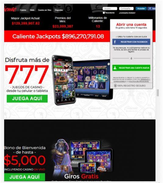Aplicación Casino Caliente