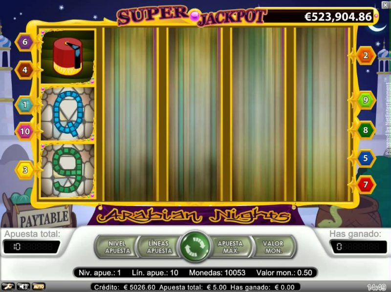 arabian night jackpot progresivo