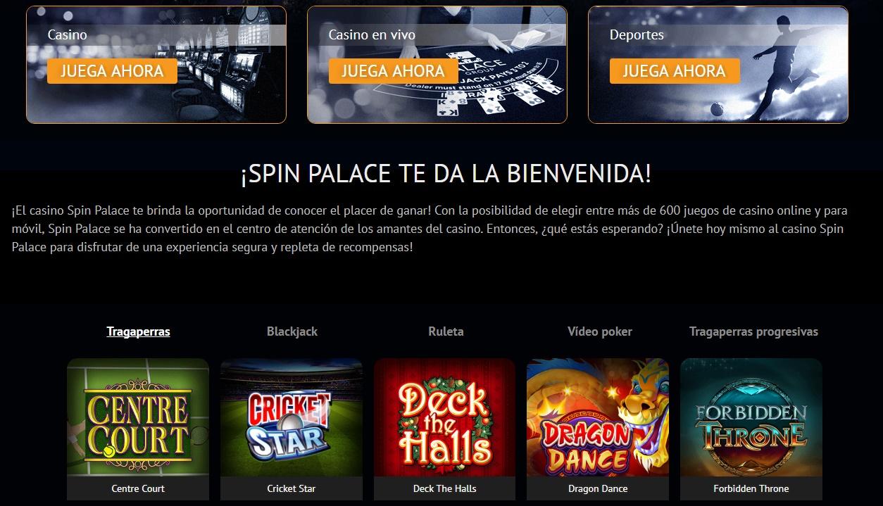 Diseño de Spin Palace