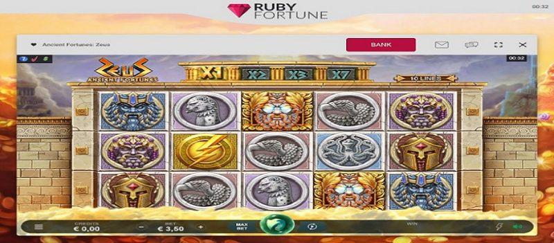 Máquinas tragamonedas en Ruby Fortune